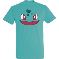 Déguishirt Pokémon Bulbizarre : T-shirt déguisement vert visage Bulbizarre