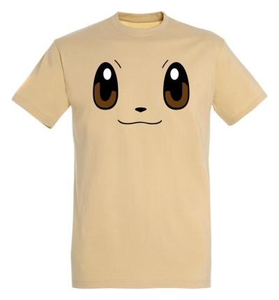 Déguishirt Pokémon Évoli : T-shirt déguisement beige visage Evoli