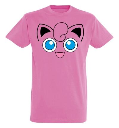 Déguishirt Pokémon Rondoudou : T-shirt déguisement rose visage Rondoudou