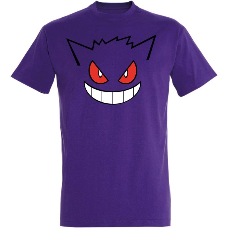 Déguishirt Pokémon Ectoplasma : T-shirt déguisement violet visage Ectoplasma