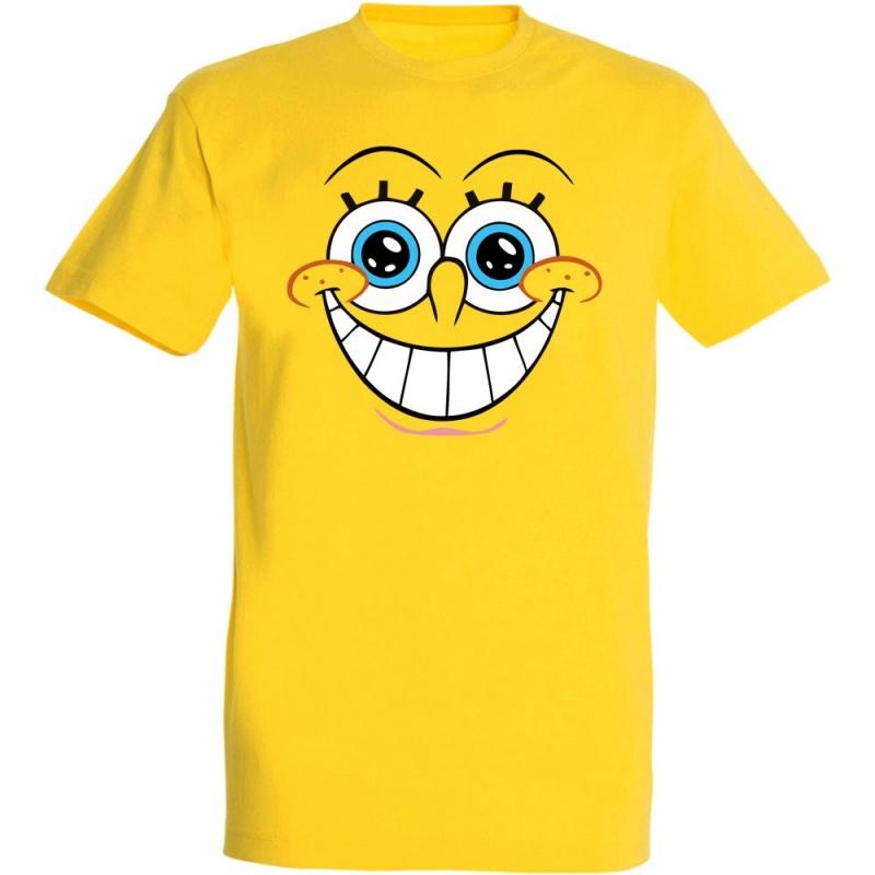 Déguishirt Bob l'Éponge : Déguisement T-shirt de Bob l'Éponge joyeux