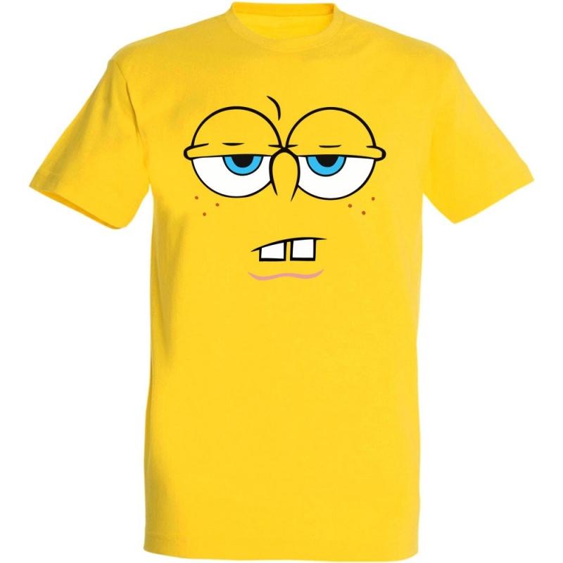 Déguishirt Bob l'Éponge : Déguisement T-shirt de Bob l'Éponge blasé