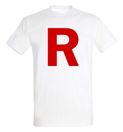 Déguishirt Pokémon Team Rocket : Déguisement T-shirt blanc Jessie James Team Rocket