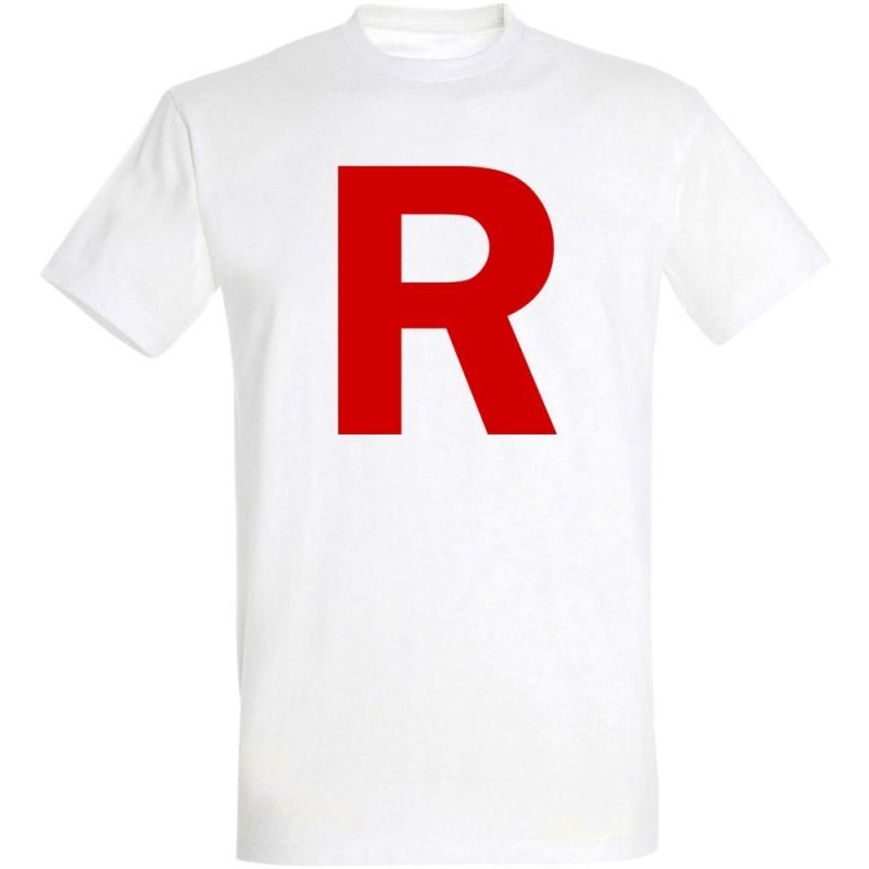 Déguishirt Pokémon Team Rocket : Déguisement T-shirt blanc Jessie James Team Rocket