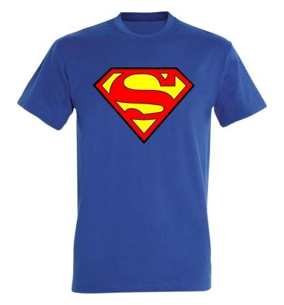 Déguishirt Super-Héros : Déguisement T-shirt bleu de Superman
