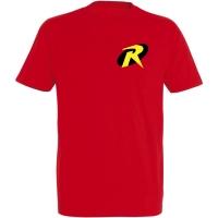 Déguishirt Super-Héros : Déguisement T-shirt rouge de Robin