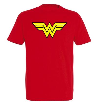 Déguishirt Super-Héros : Déguisement T-shirt rouge de Wonder Woman