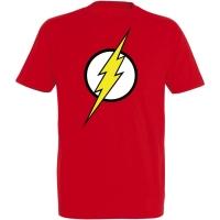 Déguishirt Super-Héros : Déguisement T-shirt rouge de Flash
