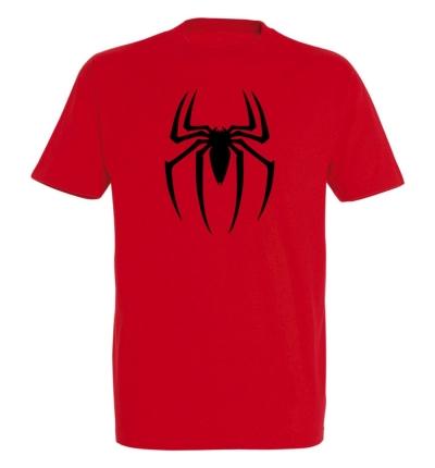 Déguishirt Super-Héros : Déguisement T-shirt rouge de Spiderman