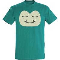 Déguishirt Pokémon Ronflex : T-shirt déguisement vert visage Ronflex