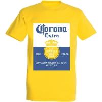 Déguishirt bière : Déguisement T-shirt de bouteille de bière Corona Extra