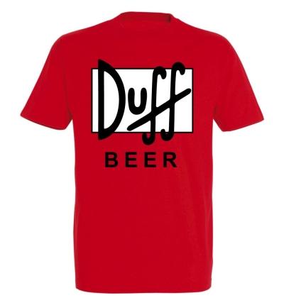 Déguishirt bière : Déguisement T-shirt de canette de bière Duff Beer