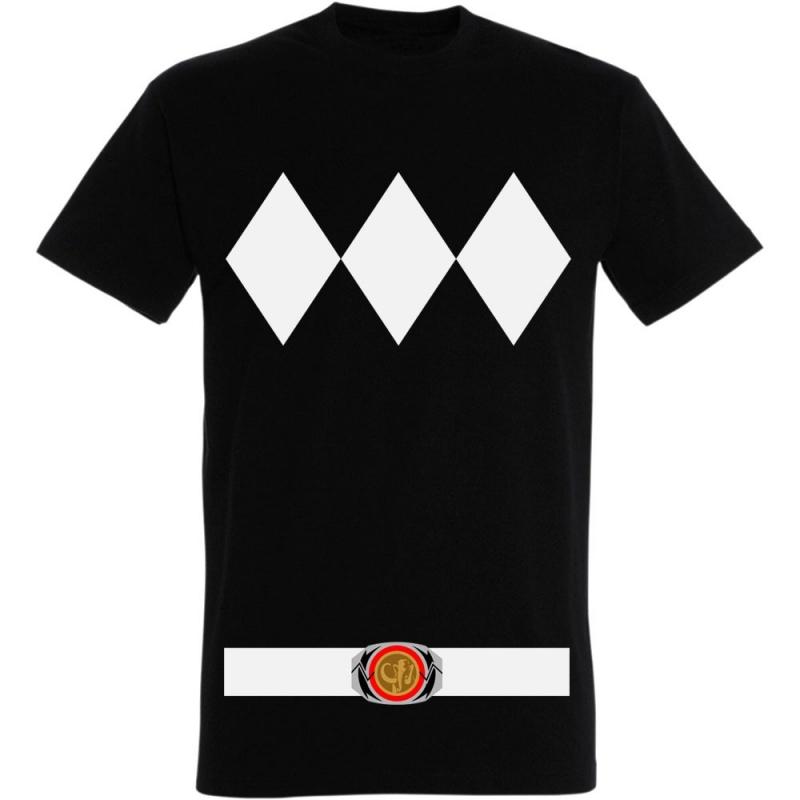 Déguishirt du Power Ranger noir (Déguisement T-shirt du Power Ranger noir)