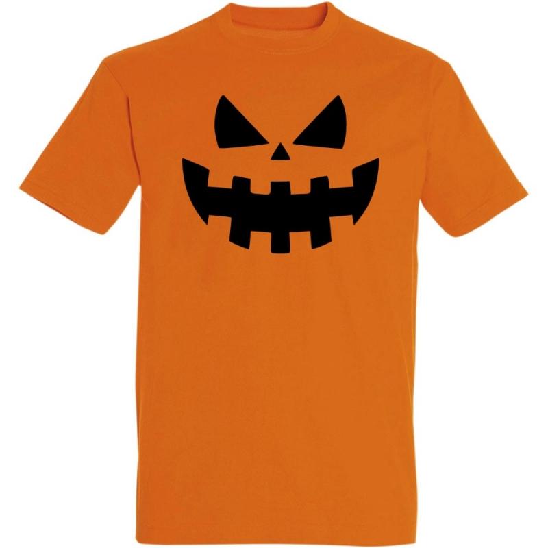 Déguishirt Halloween : T-shirt Déguisement orange de Citrouille d'Halloween méchante et terrifiante