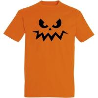 Déguishirt Halloween : T-shirt Déguisement orange de Citrouille d'Halloween pas contente