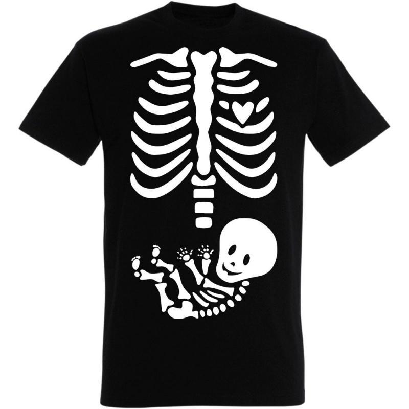 Déguishirt Halloween : T-shirt Déguisement de squelette humain et bébé