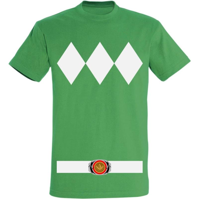 Déguishirt Power Ranger vert : Déguisement T-shirt Power Ranger vert