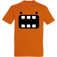 Déguishirt Futur : T-shirt Déguisement de robot orange grande bouche