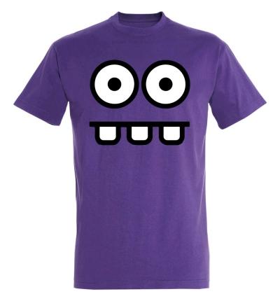 Déguishirt Futur : T-shirt Déguisement de robot violet surpris et teubé