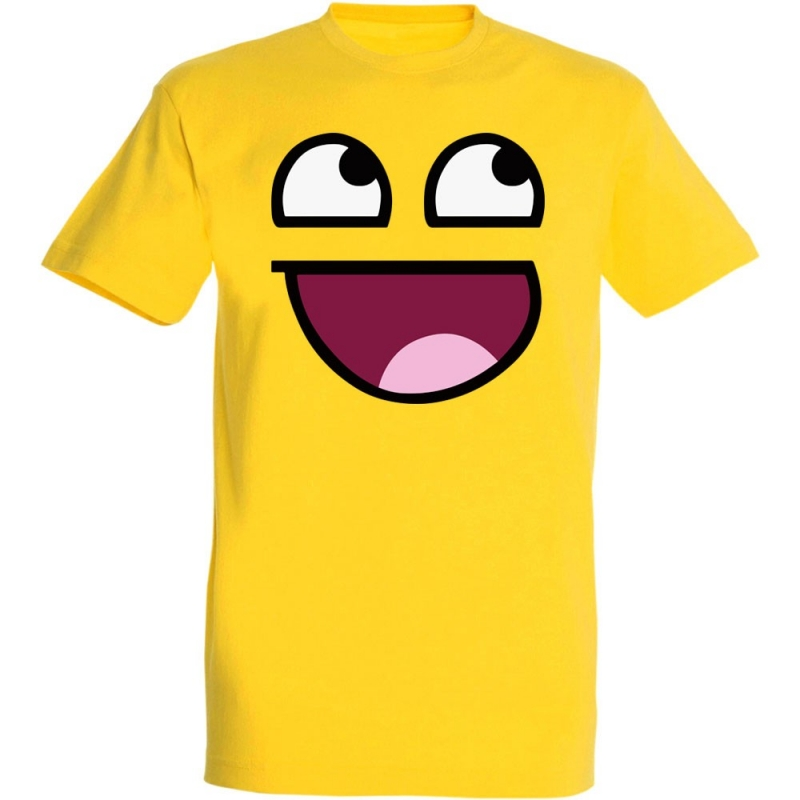 Déguishirt Fun : T-shirt Déguisement d'émoticône jaune