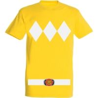 Déguishirt Power Ranger jaune : Déguisement T-shirt Power Ranger jaune
