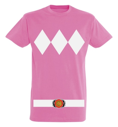 Déguishirt Power Ranger rose : Déguisement T-shirt Power Ranger rose