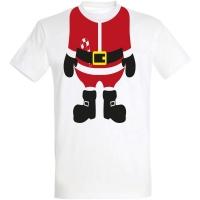 Déguishirt Noël : T-shirt Déguisement rouge de corps du père Noël