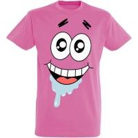 Déguishirt Bob l'Éponge : Déguisement T-shirt de Patrick Étoile très heureux