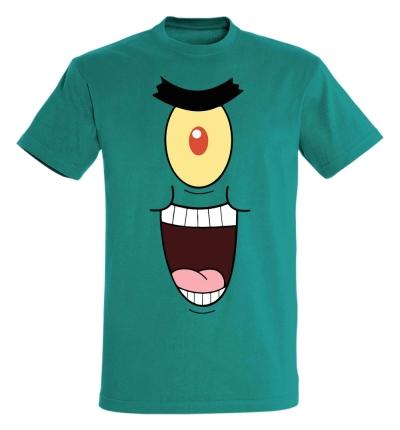 Déguishirt Bob l'Éponge : Déguisement T-shirt de Sheldon J. Plankton méchant
