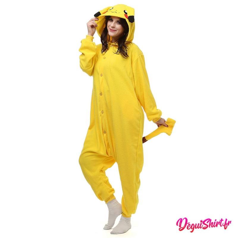 Déguisement Pokémon Pikachu adulte : Pyjama Kigurumi Pikachu Homme Femme