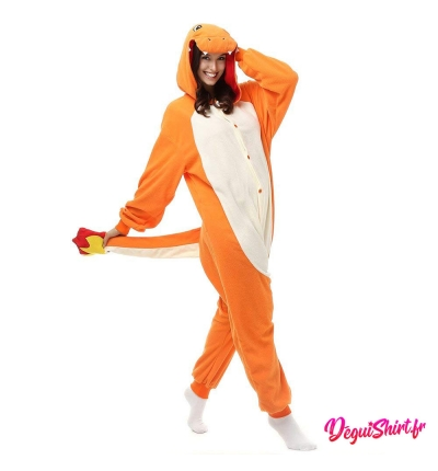 Déguisement Pokémon Salamèche adulte : Pyjama Kigurumi Salamèche Homme Femme