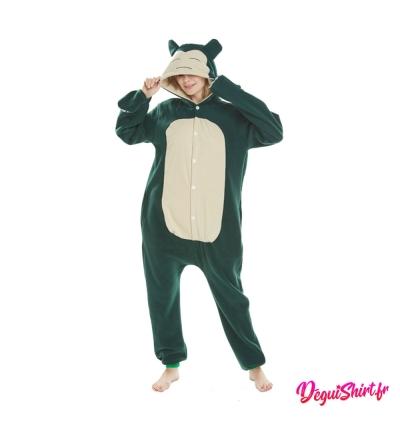 Déguisement Pokémon Ronflex adulte : Pyjama Kigurumi Ronflex Homme Femme