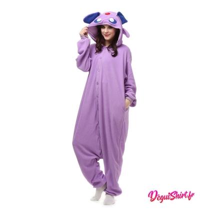 Déguisement Pokémon Mentali adulte : Pyjama Kigurumi Mentali Homme Femme