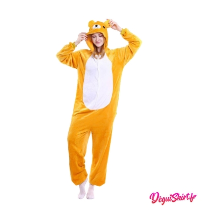 Déguisement kigurumi d'ours orange