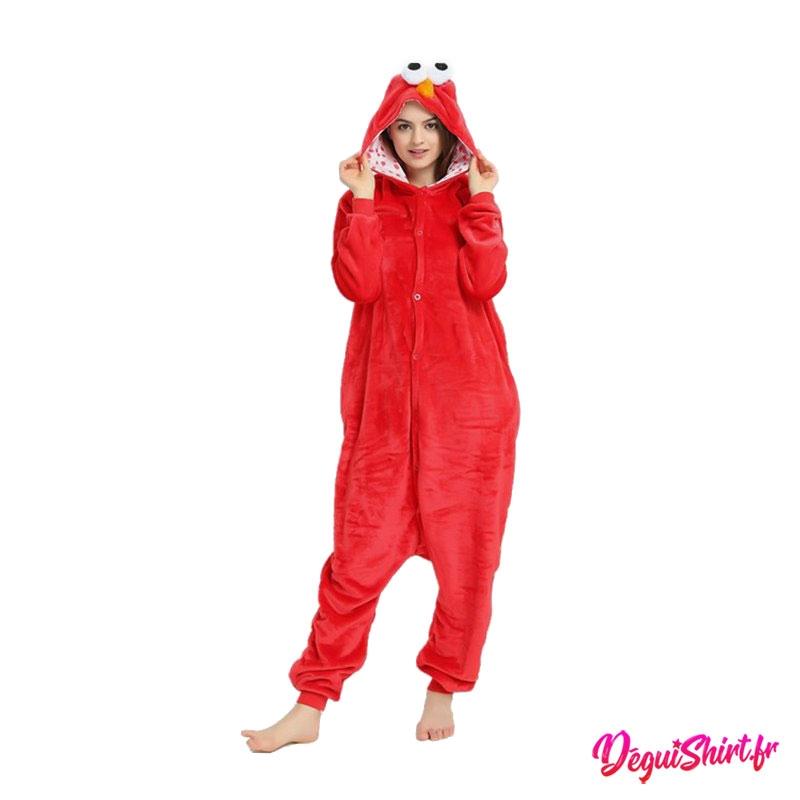 Déguisement kigurumi d'Elmo de Sesame Street