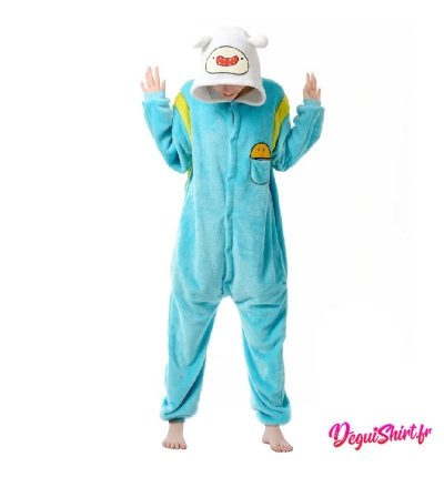 Déguisement Adventure Time : Pyjama Kigurumi Finn L'Humain