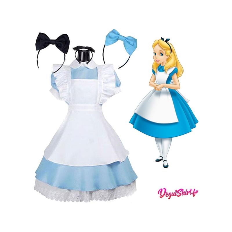 Costume robe réaliste d'Alice au pays des merveilles (Disney)