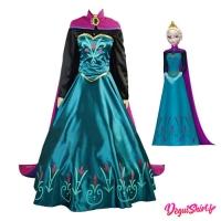 Costume robe réaliste d'Elsa la Reine d'Arendelle (Disney)
