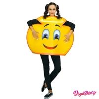 Déguisement emoticone emoji ange souriant