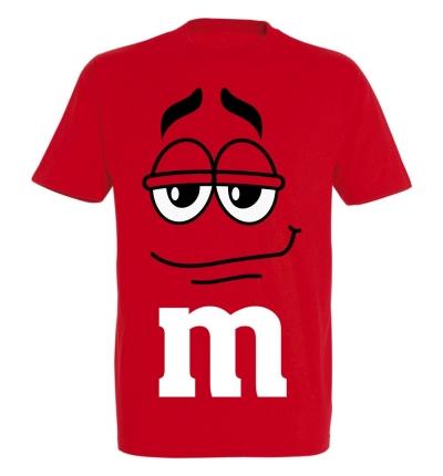 Déguishirt M&M's : Déguisement T-shirt M&M's Mister Rouge