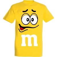 Déguishirt M&M's : Déguisement T-shirt M&M's Mister Jaune