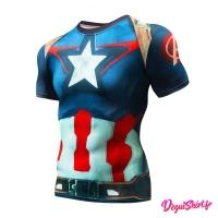 Déguishirt Captain America Avengers (T-shirt déguisement Marvel)