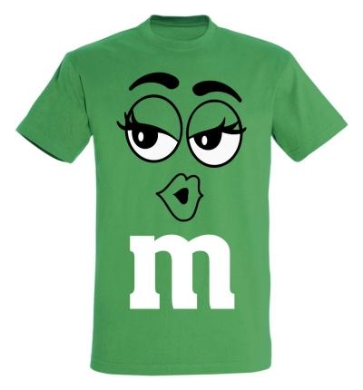 Déguishirt M&M's : Déguisement T-shirt M&M's Miss Verte