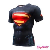Déguishirt Superman sombre : T-shirt Déguisement Justice League DC