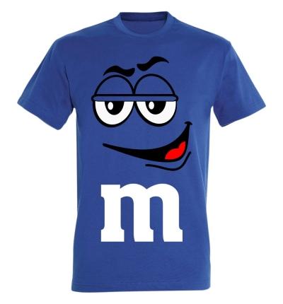 Déguishirt M&M's : Déguisement T-shirt M&M's Mister Bleu