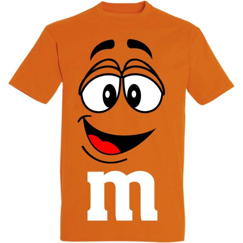 Déguishirt M&M's : Déguisement T-shirt M&M's Mister Orange