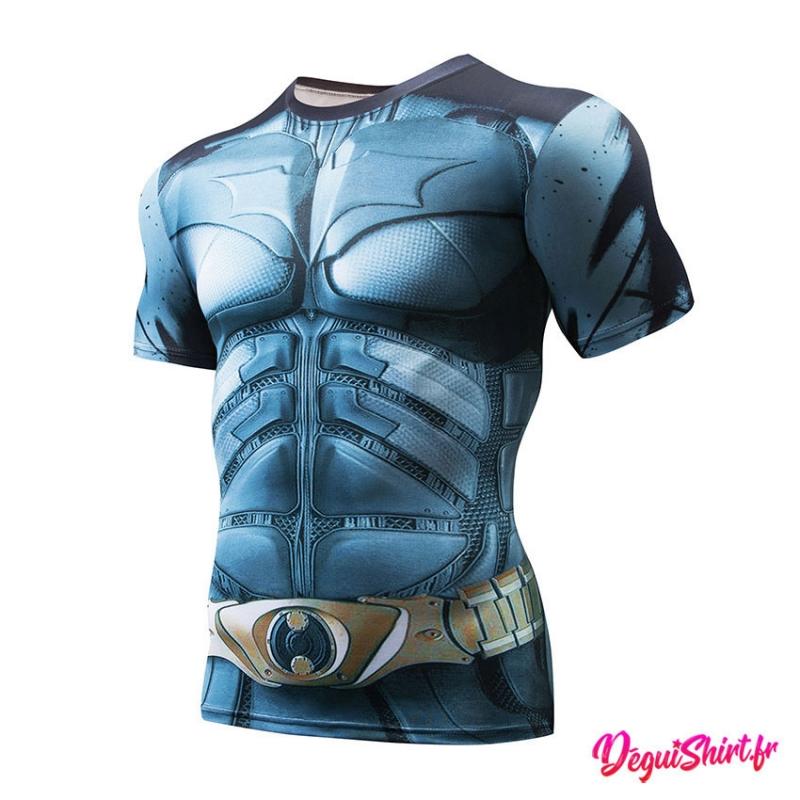 Déguishirt Batman clair : T-shirt Déguisement Justice League DC