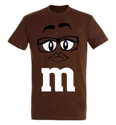 Déguishirt M&M's : Déguisement T-shirt M&M's Miss Brown (Marron)