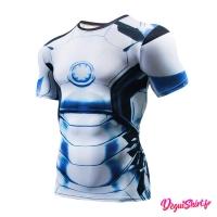 Déguishirt Iron Man blanc : T-shirt Déguisement Marvel