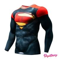 Déguishirt Superman : T-shirt Déguisement Justice League DC manches longues